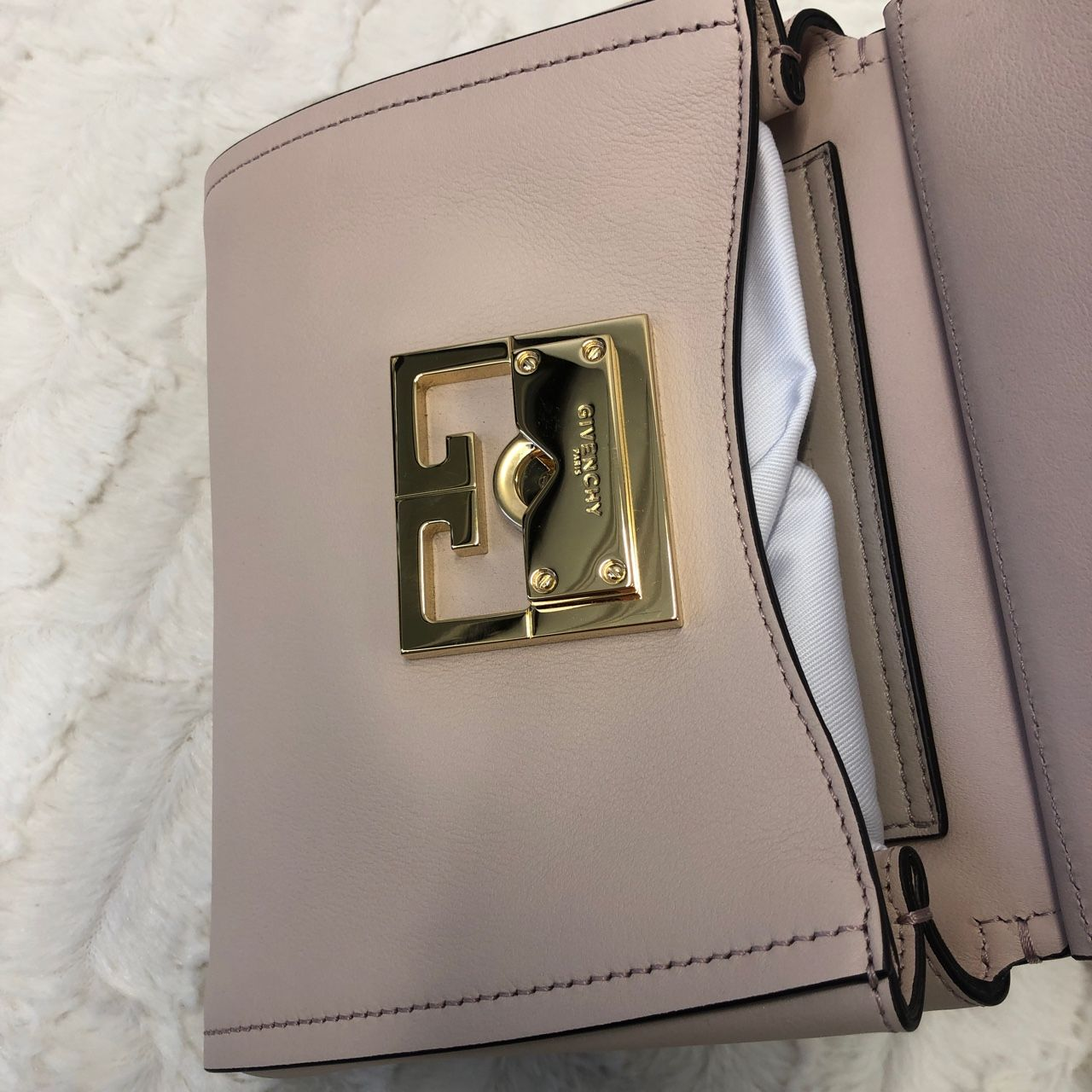 Givenchy Mini Mystic Satchel Bag Leather Pale Pink A0146251