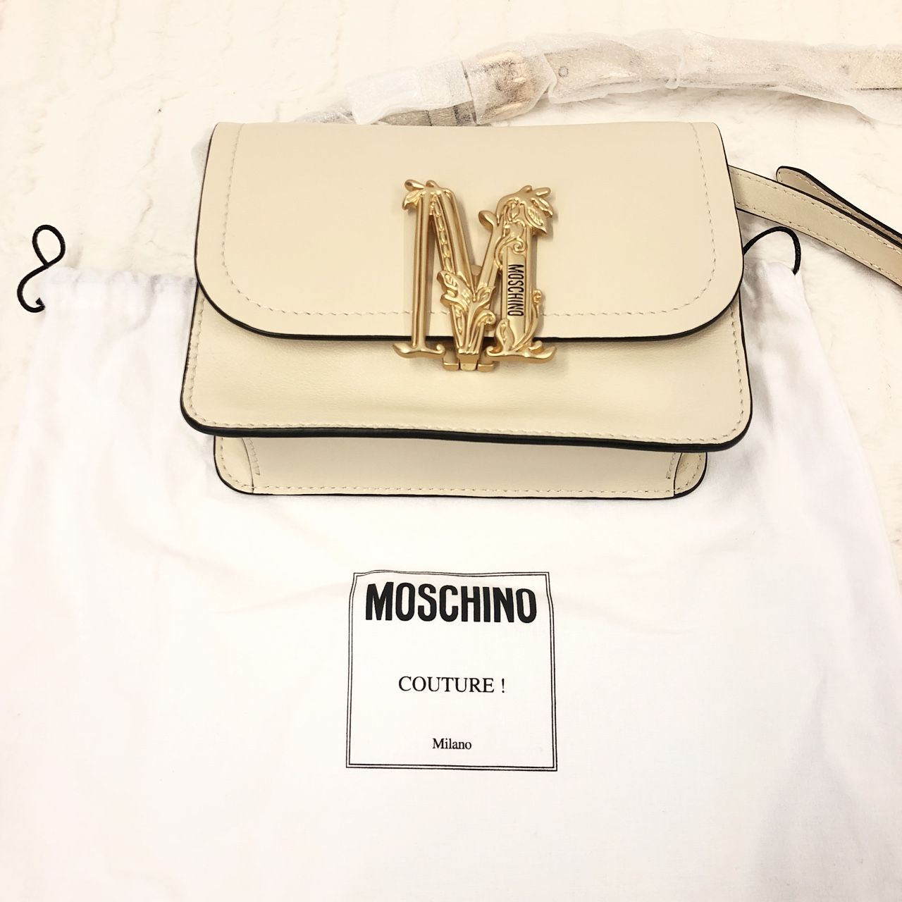 Moschino Shoulder Bag Avorio A0141838